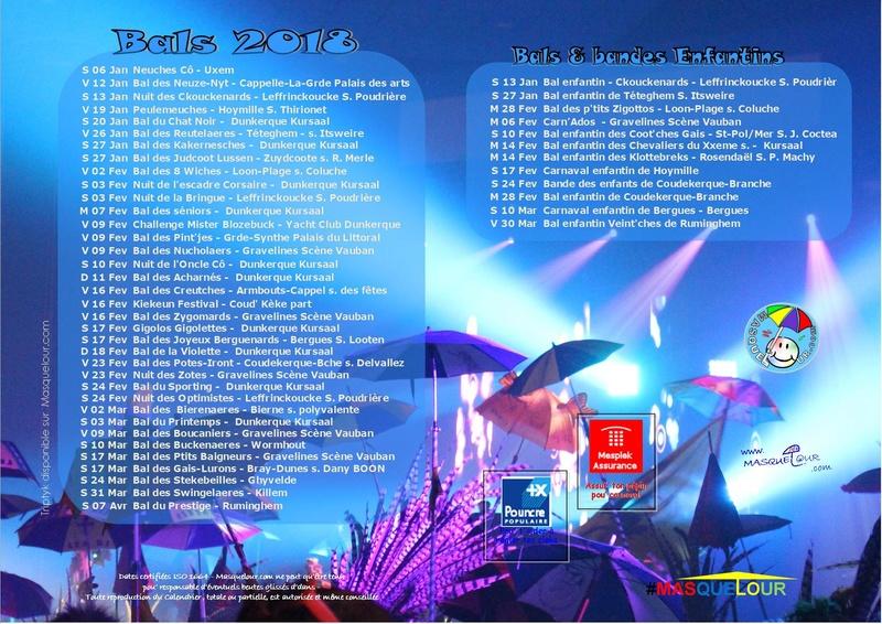 carnavals - Bal de carnavals et bals et bandes des enfants 2018 dans le dunkerquois  22382210