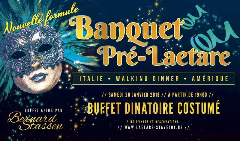 2018 - BANQUET PRE-LAETARE – de STAVELOT le 20 janvier 2018 Banque10