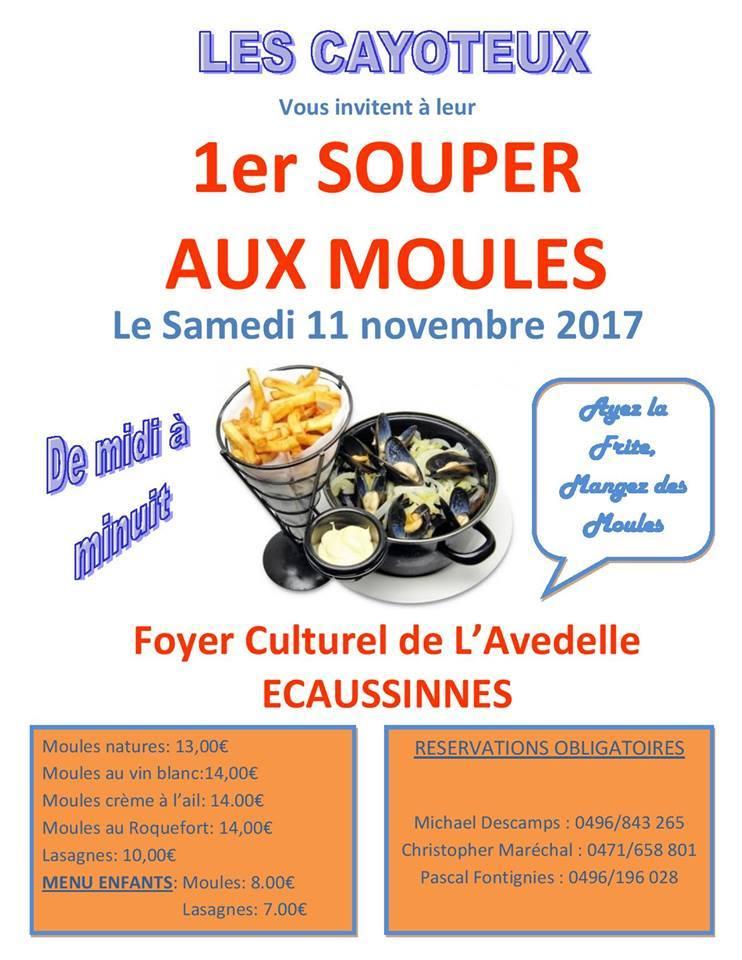CARNAVAL -   le1er souper au moules des cayoteux du  Carnaval d'Ecaussinnes Belgiq10