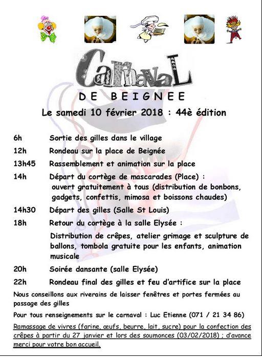 2018 - Samedi 10 février 2018 : 44 éme édition du carnaval de Beignee Carnav15