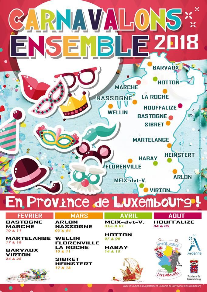 2018 - carnaval en province du luxembourg 2018  Carnav16