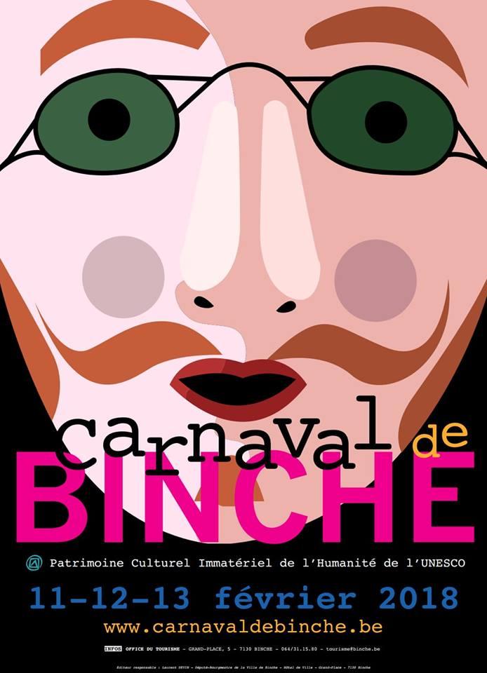2018 - PROGRAMME  2018 DES CARNAVALS DE L'ENTITE DE BINCHE  Carnav19