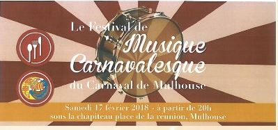 CARNAVAL - AGENDA CARNAVAL  DE L'ANNEE 2018 A MULHOUSE Festiv11