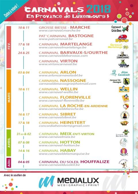 2018 - Festivités carnavalesque en province du luxembourg 2018 Festiv12