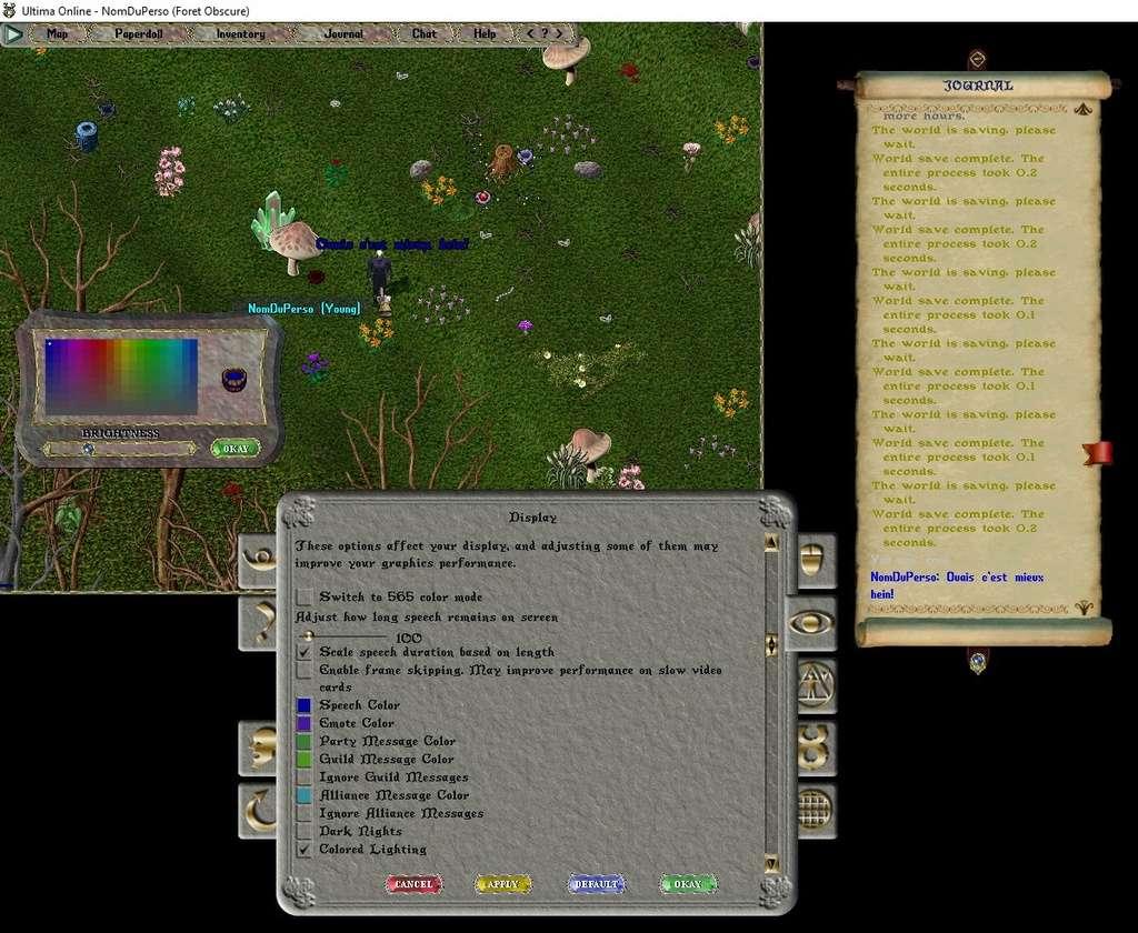 [Premiers pas sur Ultima Online] Chapitre 3 Se déplacer, courir, parler, chuchoter, agir 004bas10