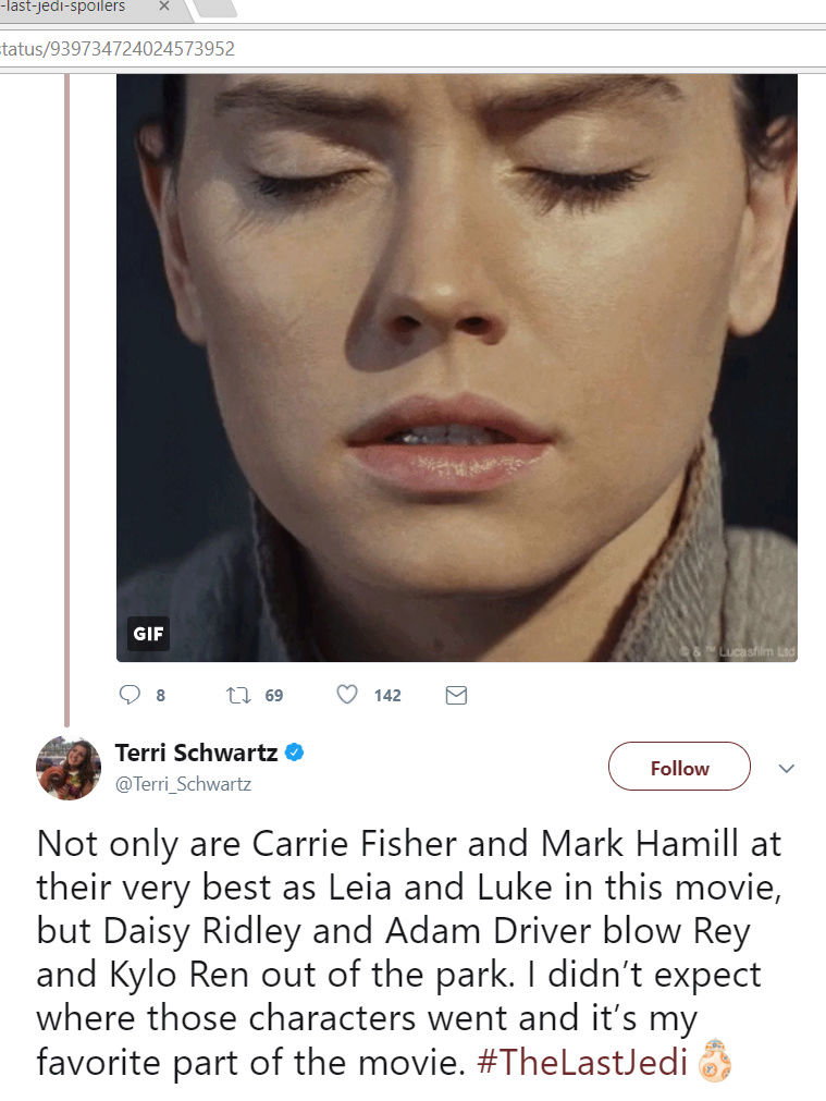 Discussion: TLJ Movie Spoilers/Rumors - Page 22 2017-112