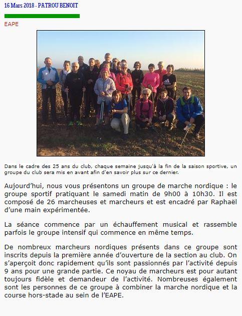 Groupe Sportif Samedi animé par Raphaël Sporti17