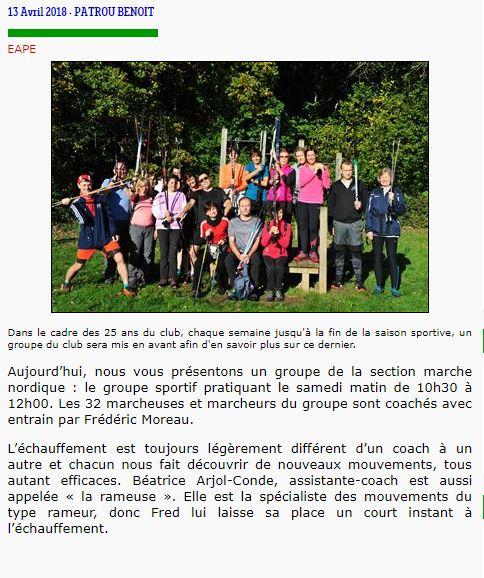 Groupe Sportif Samedi animé par Frédéric Sporti23