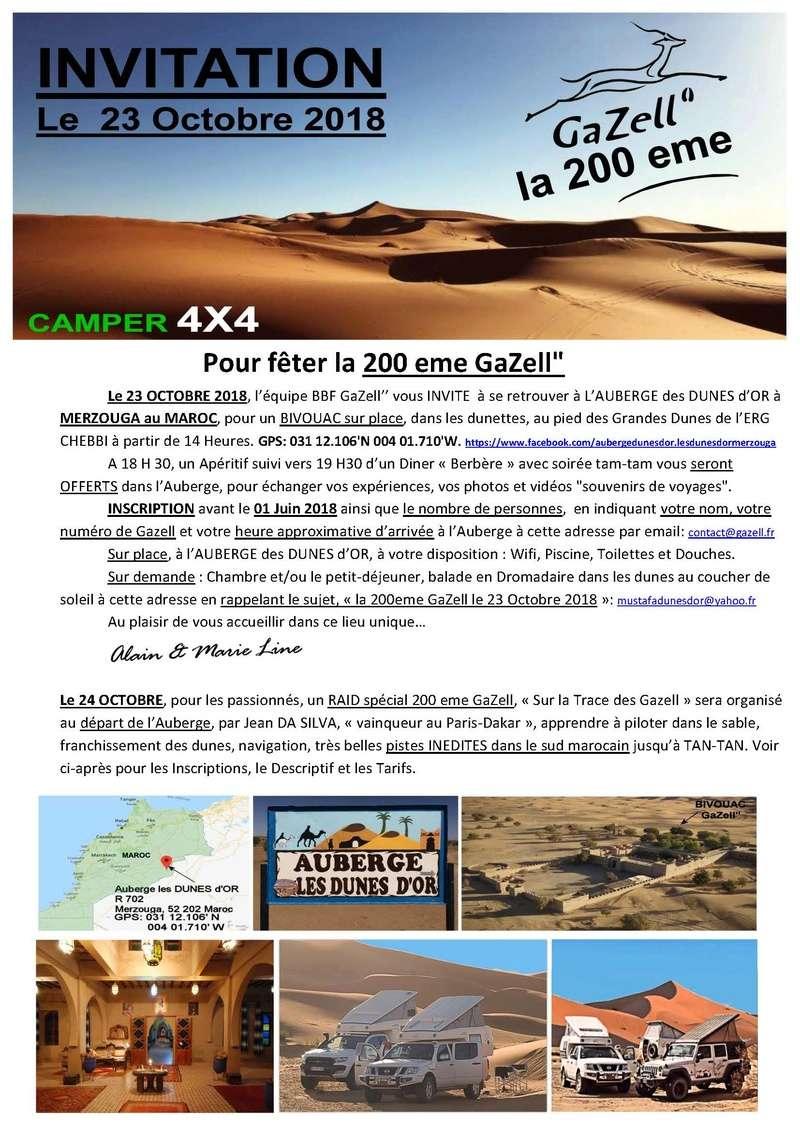 Evénément ! Invitation pour la 200° Gazell' Invita11