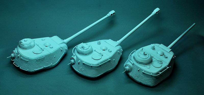 Трое из ларца-одинаковых с лица КВ-85, КВ-122 и ИС-2 Dsc_0635