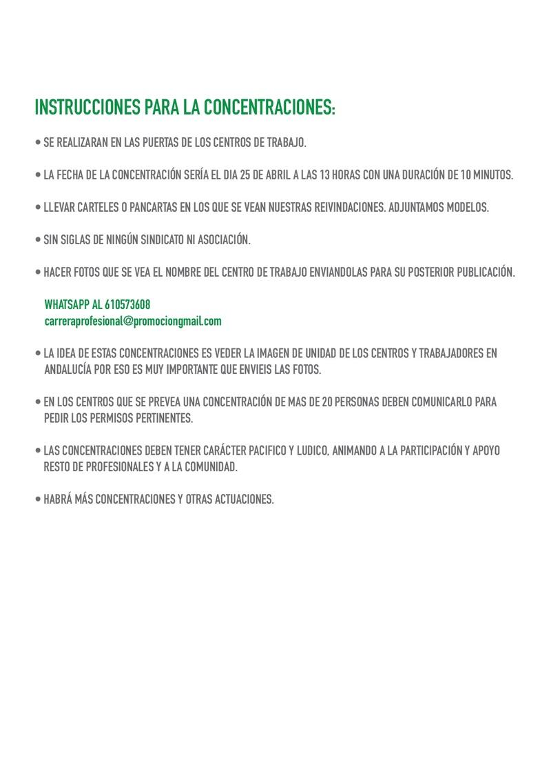 COMIENZAN LAS MOVILIZACIONES POR LA CARRERA PROFESIONAL PARA TODOS Instru12