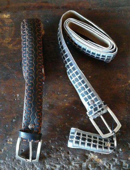 Cinture con copertoni di bicicletta Cintur23