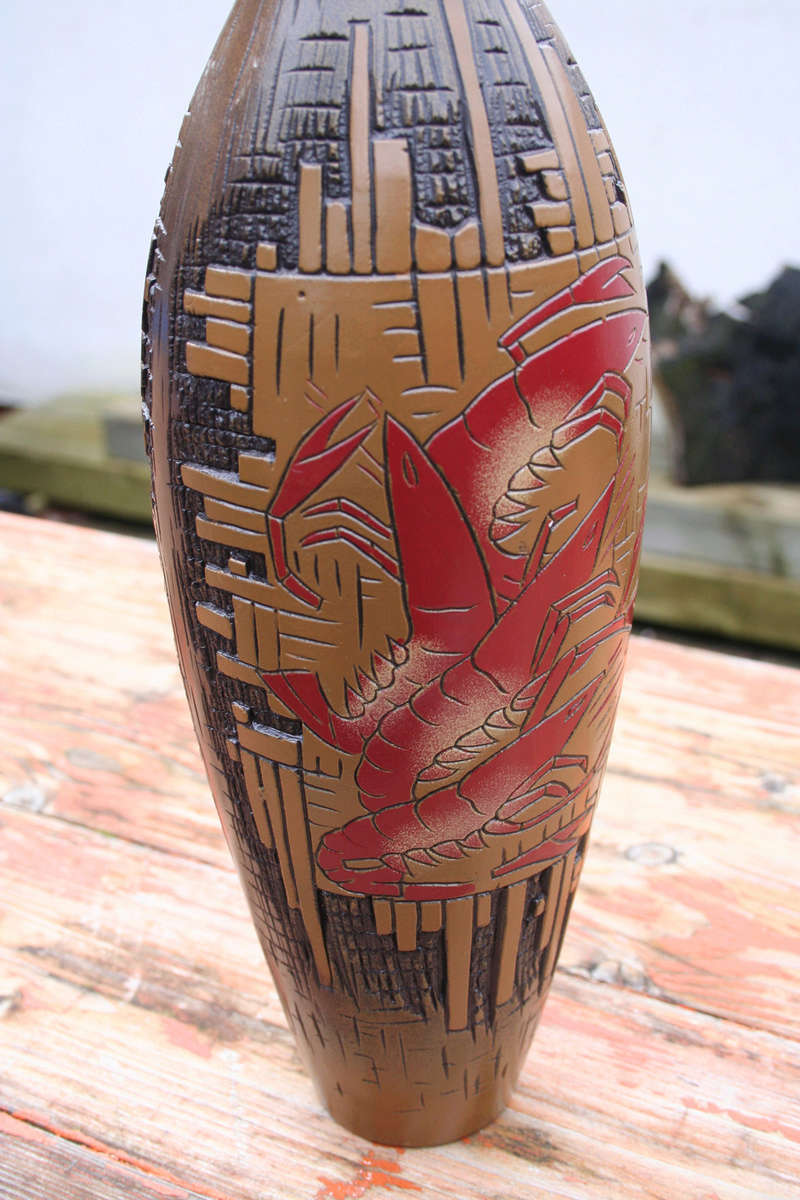 MYSTERY TALL BOTTLE VASE Img_2812