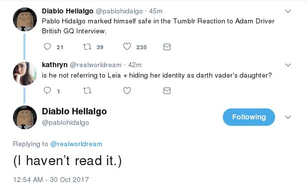 "Interview Revelations:  ""Hidden princess"" and ""the relationship between Rey and Kylo"" and more golden quotes discussion - Page 3 Pablo_15"