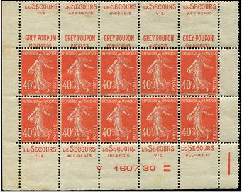 40c semeuse camée rouge   DOUBLES-PUBS. Gp10