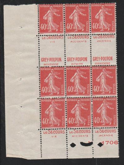 40c semeuse camée rouge   DOUBLES-PUBS. Greypo10