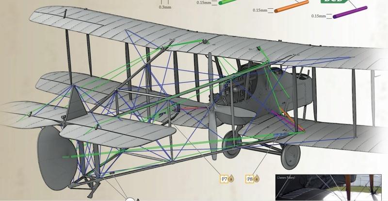 RAF FE2b - Aeroclub - 1/48ème Hauban10