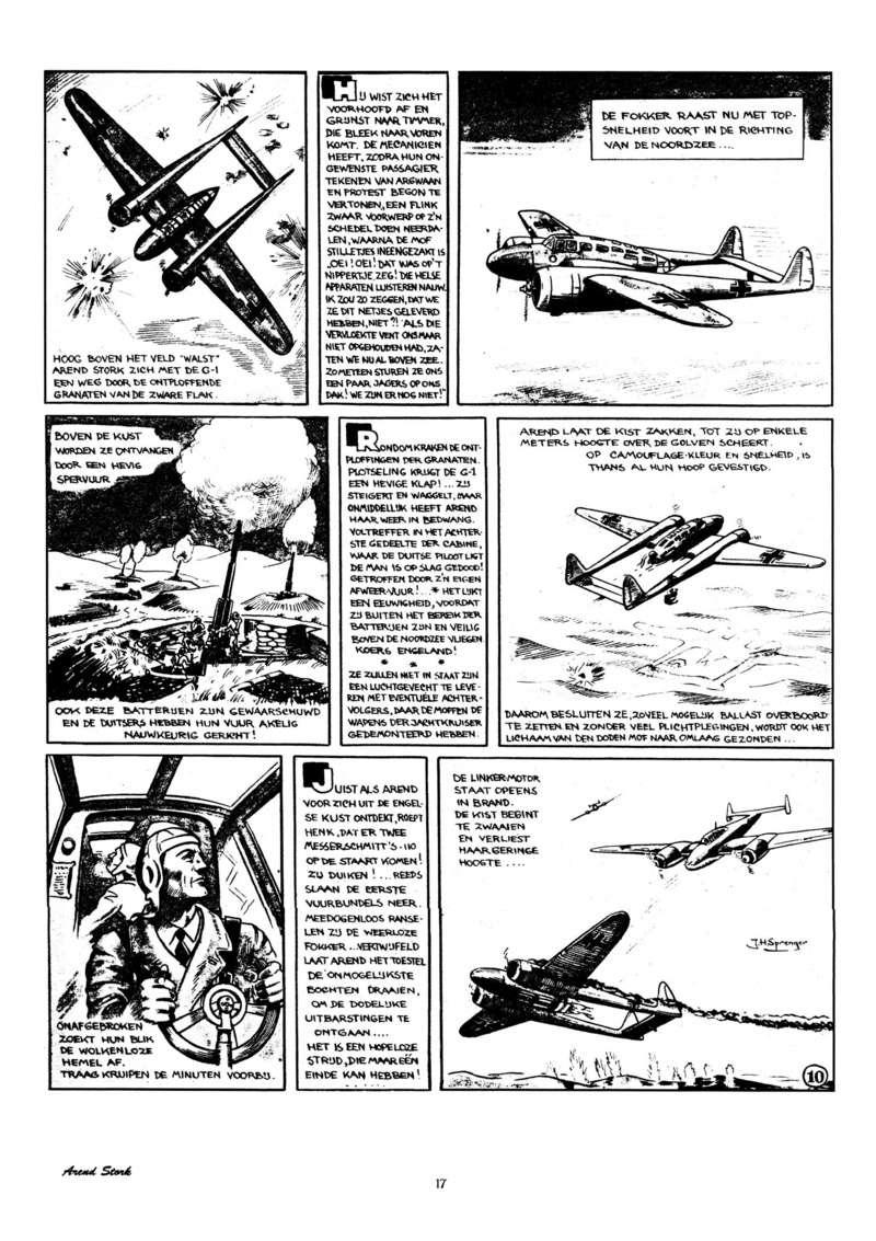 Arend Stork et autres BD d'Henk Sprenger Oudhou19