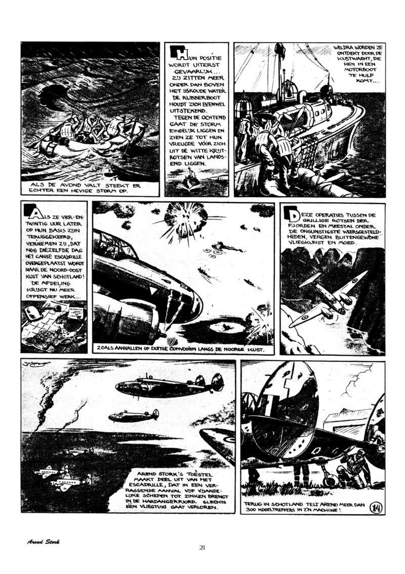 Arend Stork et autres BD d'Henk Sprenger Oudhou23