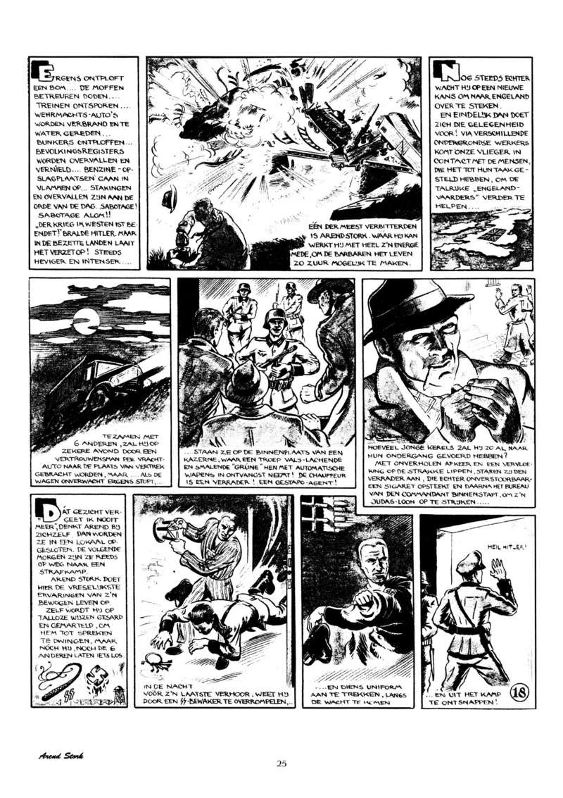 Arend Stork et autres BD d'Henk Sprenger Oudhou28