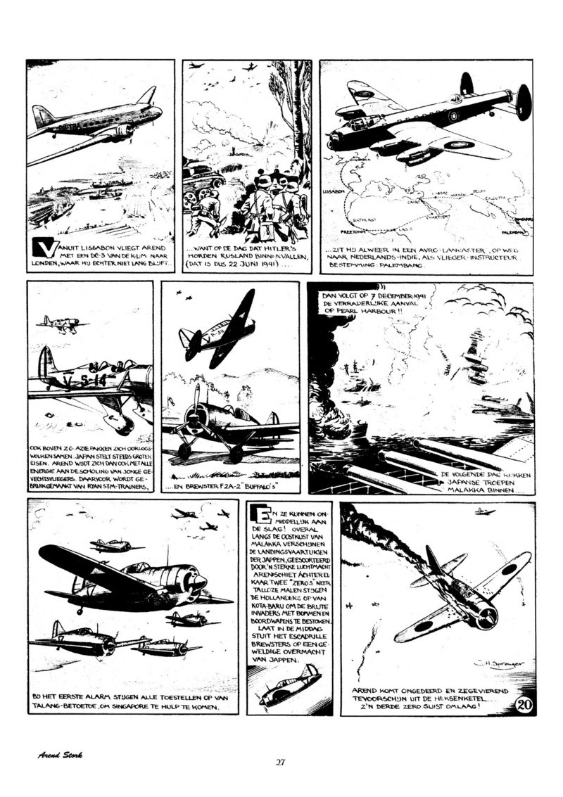 Arend Stork et autres BD d'Henk Sprenger Oudhou30