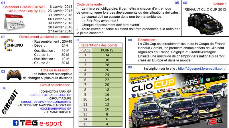 Clio Cup T2G  2018 Reglem10