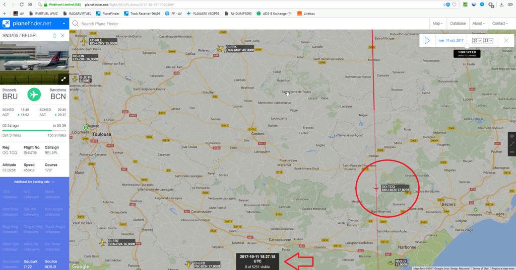11 10 2017 18:27TU : flare sur avion ? Opera_10