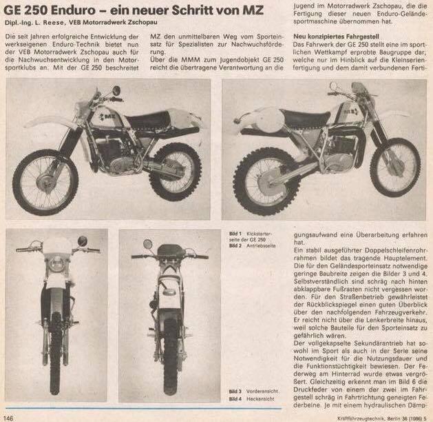 Enduro MZ : historique 19875110