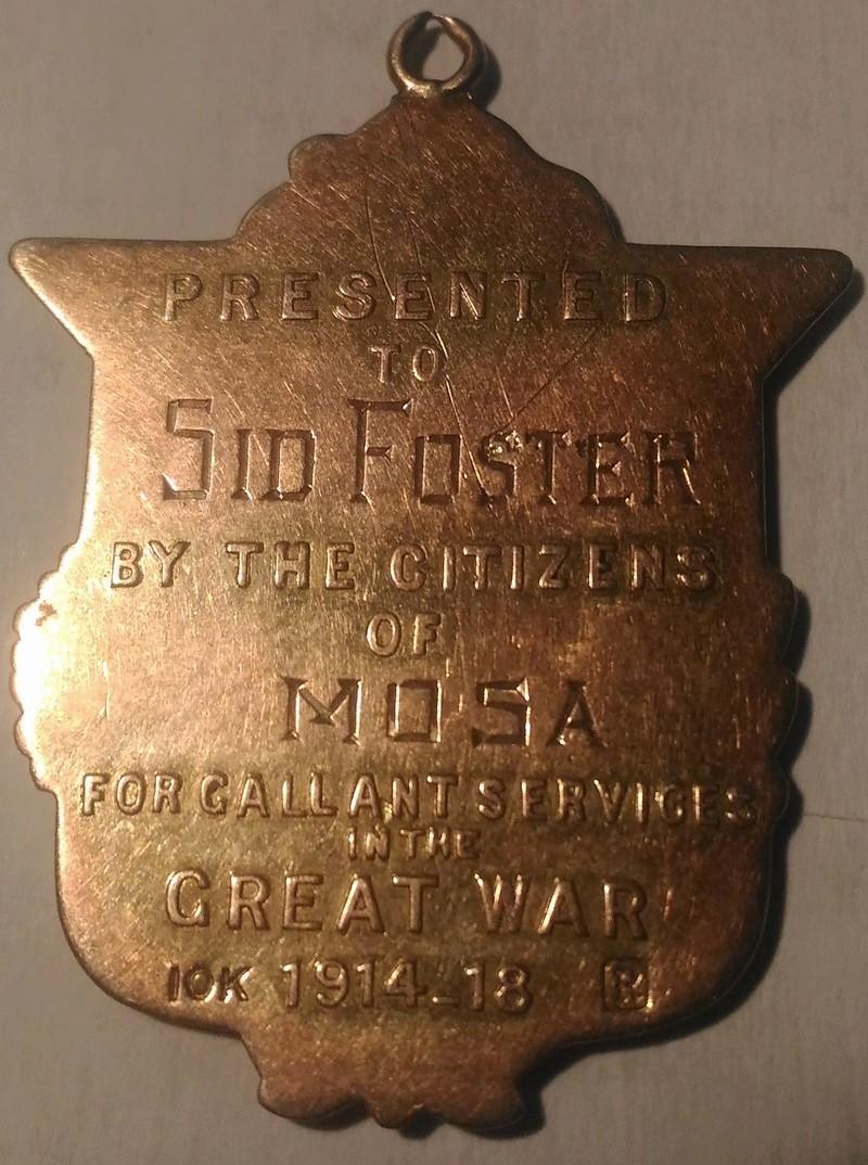 Great War Homecoming Pendant / Medal P_201811