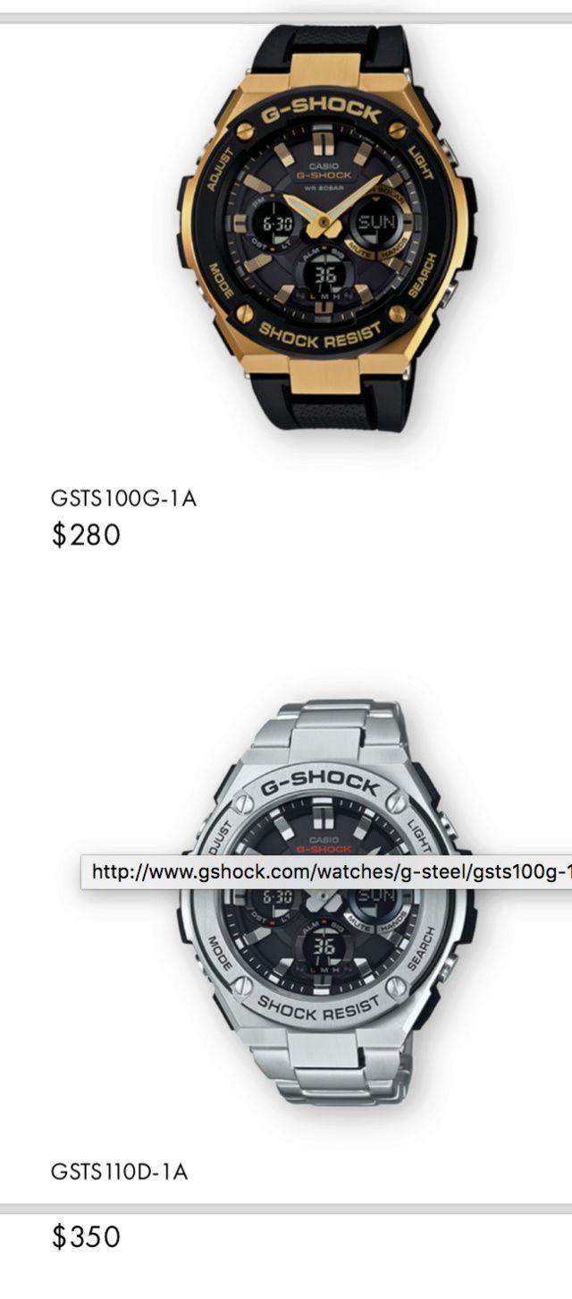 Casio GST-W310D-1AER : la G-Steel plus compacte - Page 2 Captur35