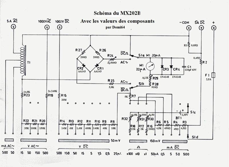 Monoc Chauvin & Arnoux (et Métrix 202) substitution de pile Schema10