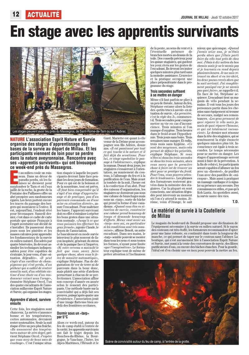 Retour stage Esprit Nature et Survie (ENS) - Les bases de la survie - Octobre 2017 000210