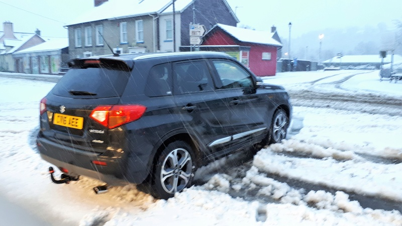 Snow and during in the Vitara 20171214
