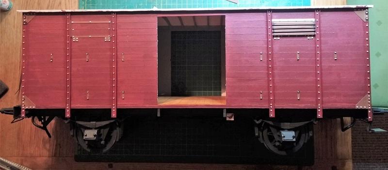 Baubericht Preuss. gedeckter Güterwagen G10 mit Bremserhaus, M 1:16 20171123