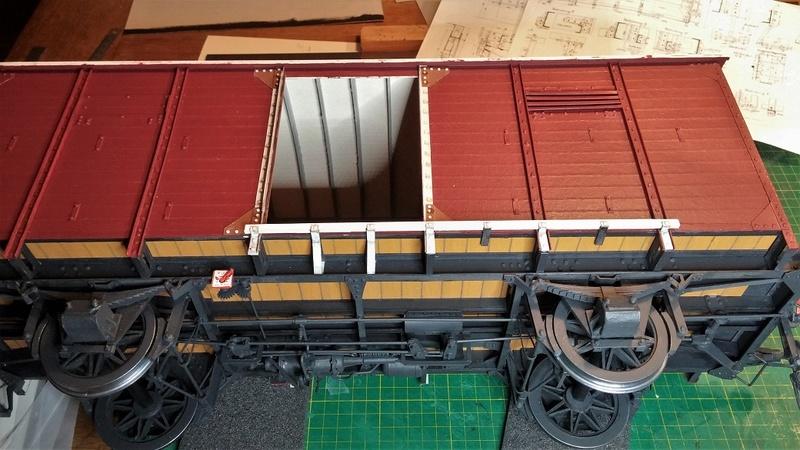 Baubericht Preuss. gedeckter Güterwagen G10 mit Bremserhaus, M 1:16 20171124