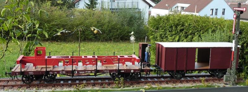 Baubericht Preuss. gedeckter Güterwagen G10 mit Bremserhaus, M 1:16 P1100517
