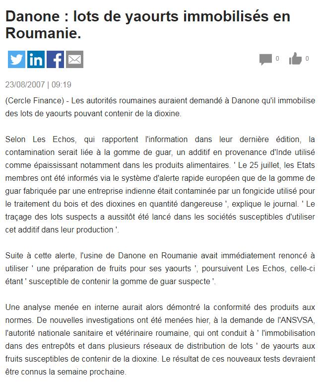 Emmanuel Faber - Nouveau PDG de Danone Danone10