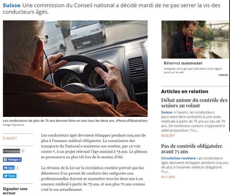 Les Permis de Conduire Bientôt Invalidés Pour les + 70 ans ? Suisse10