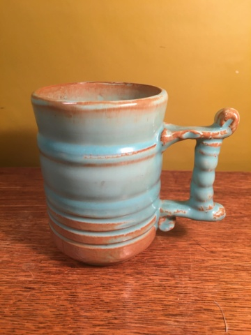 Retro mug with unusual handle - Prinknash Pottery  Image28