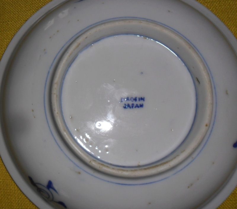 lovely little blue and white dish MADE IN JAPAN Sam_7710