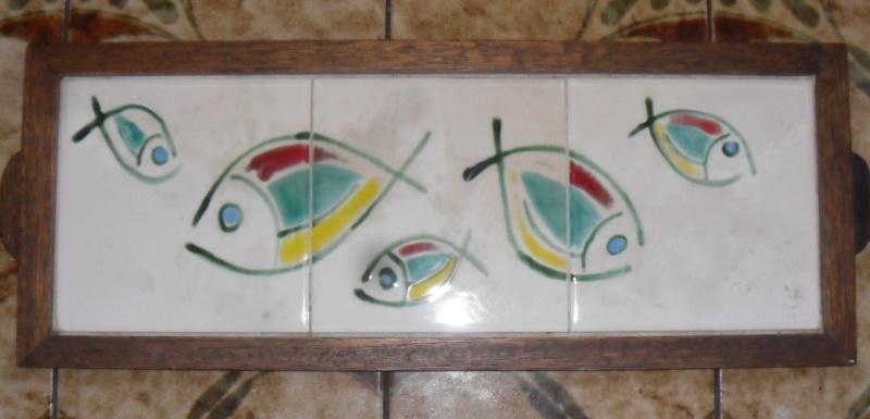 rather sweet tile tray in oak frame Sam_7717