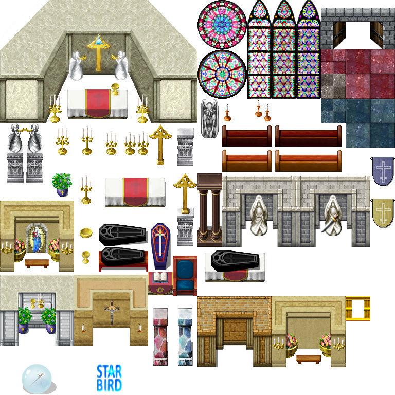 Bibliothèque des ressources MV Tilesets Church10