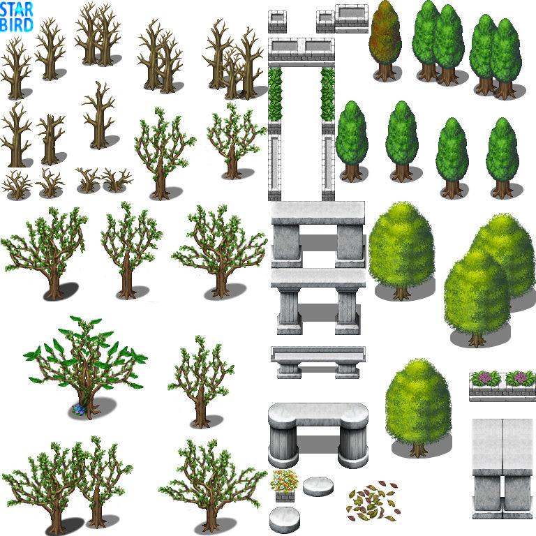 Bibliothèque des ressources MV Tilesets Tree_a10