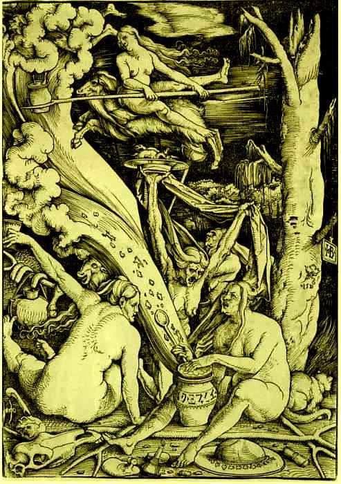 Магия, наркотики и интим: Как возник традиционный образ «ведьмы на метле».  516