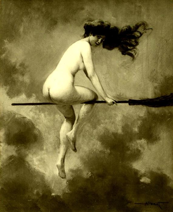 Магия, наркотики и интим: Как возник традиционный образ «ведьмы на метле».  713