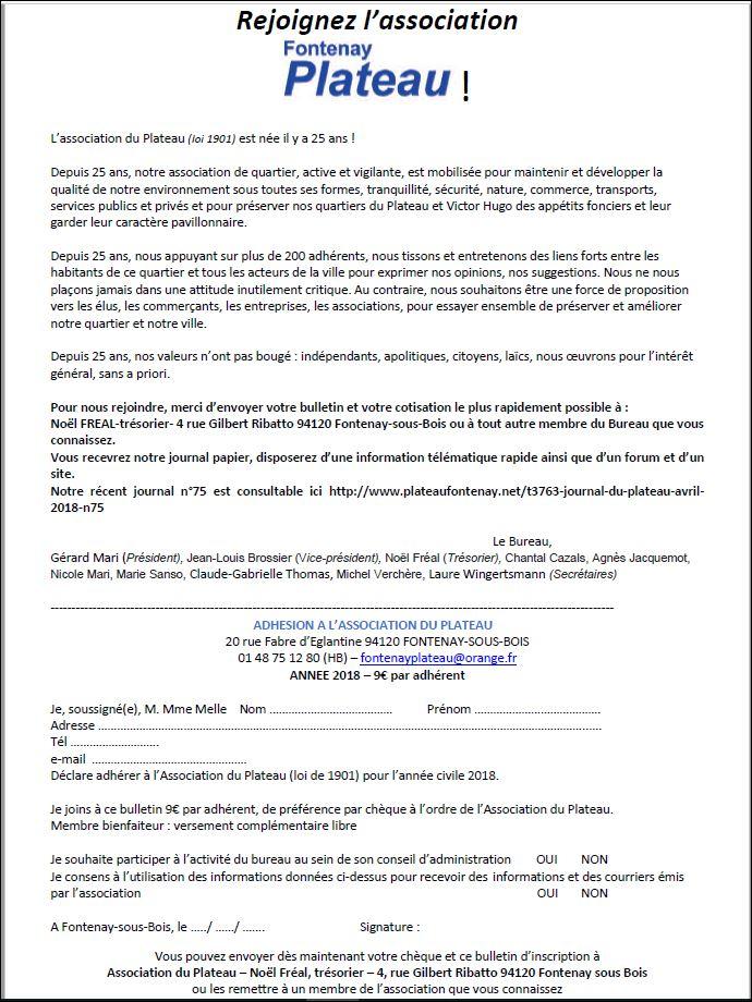 On peut demander à adhérer à l'Association du Plateau Captur11