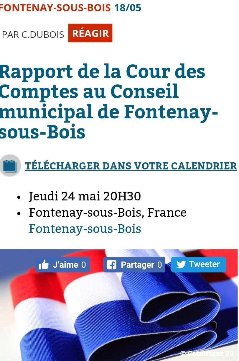 Rapport de la Cour des Comptes séance publique en mairie Smarts21