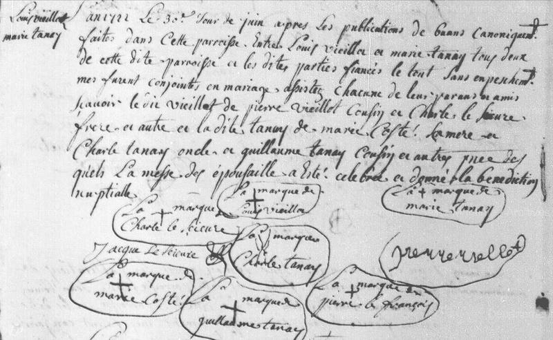 lefrançois - VIEILLOT TANAY 1722 Mariag10