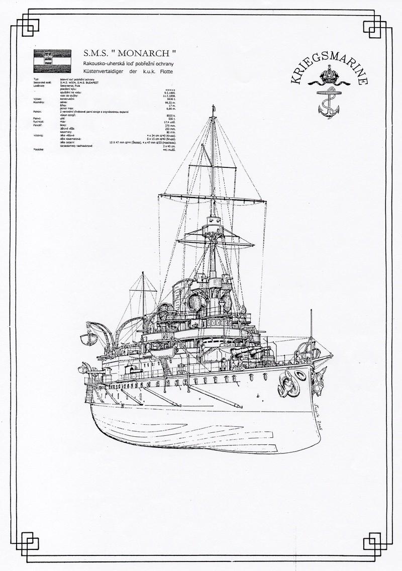 SMS Monarch cuirassé austro-hongrois au 1/65e sur plan Img37710