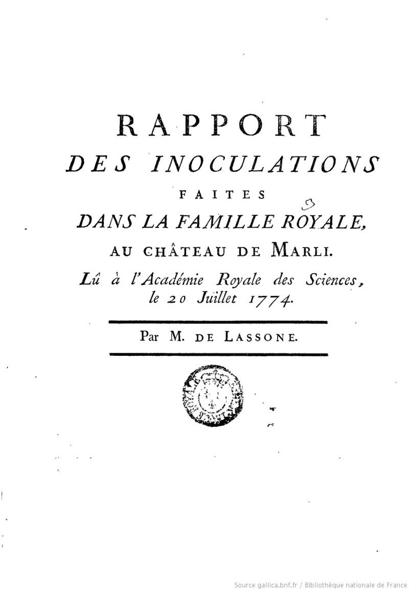 François de Lassone, premier médecin du roi 119